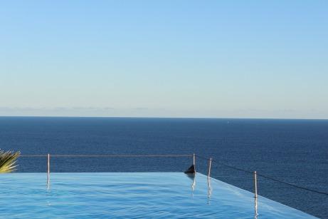 Hotel Summer Pool Infinity Luxury Sea Sky Water