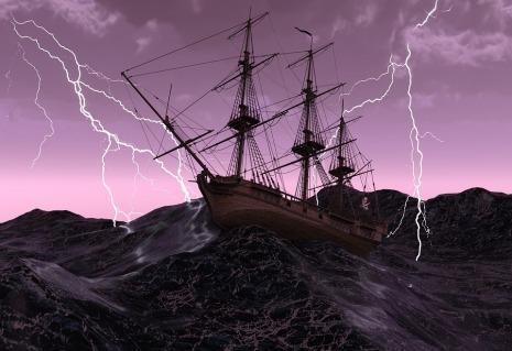 Forward Ship Force Of Nature Storm Wave Lake